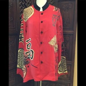 ❤️ CHICOS ASIAN BLOUSE SIZE 2